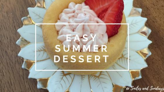 Easy Summer Dessert: Strawberry Style